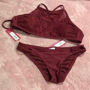 High Neck Bikini with Cheeky Bottoms